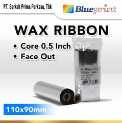 Ribbon Wax Barcode Label 110x90m BLUEPRINT Thermal Transfer Ribbon