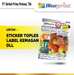 Kertas Sticker Glossy  Sticker Glossy Photo Paper BLUEPRINT A4 120 gsm