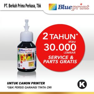 Tinta Tinta Canon BLUEPRINT Refill For Printer Canon 100ml - Hitam CP<br> 1 canon_black_100ml_cp_membership