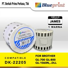 Label Barcode 22205 BLUEPRINT 62x3048m Continuous stiker Roll Brother