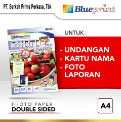 Kertas Foto  Double Sided Photo Paper BLUEPRINT A4 220 gsm