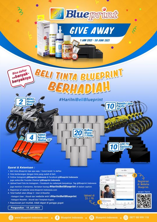 "BLUEPRINT GIVE AWAY ""BELI TINTA BLUEPRINT"""