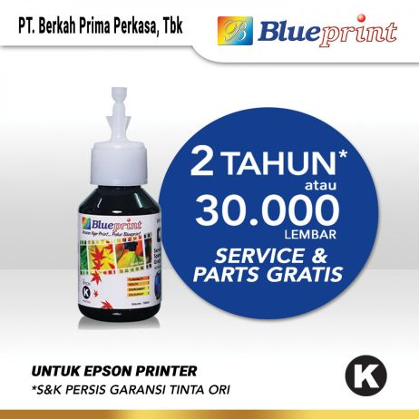 Tinta Tinta Epson BLUEPRINT Refill For Printer Epson 100ml  Black CP tinta epson 641 100 ml  black