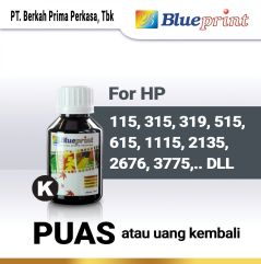 Tinta HP BLUEPRINT Refill For Printer HP 100ml  Hitam